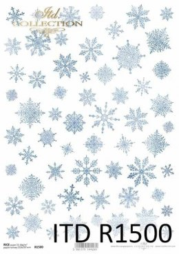 Rice paper - snowflakes A3