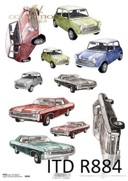 Rice paper - old cars, graphics, motors