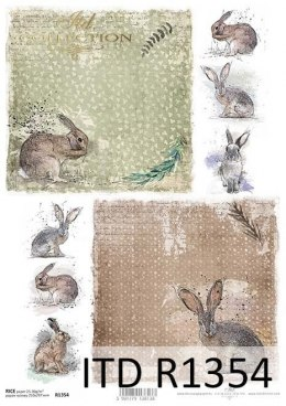 Rice paper - Animals, nice hares