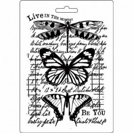 STAMPERIA-TEXTURE IMPRESSION - MODELLING MOULD 14,8X21 CM - BUTTERFLY
