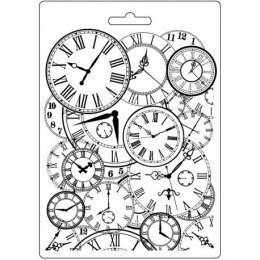 STAMPERIA-TEXTURE IMPRESSION - MODELLING MOULD 14,8X21 CM - CLOCKS