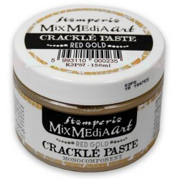 Crackle paste - red gold 150ml/Stamperia