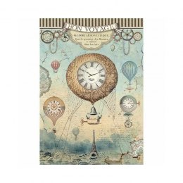 STAMPERIA RICE PAPER A4 VOYAGES-BALOON