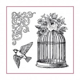 Stamp - 10x10 cm Cage