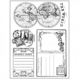 Stamp - 14x18 cm AROUND THE WORLD