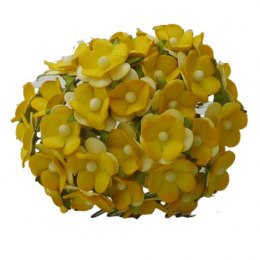 2-TONE YELLOW MULBERRY PAPER SWEETHEART BLOSSOM FLOWERS