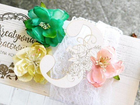 Chipboard - Floral Digits - 3