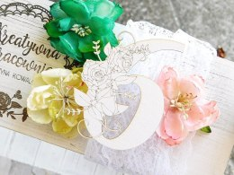 Chipboard - Floral Digits - 6