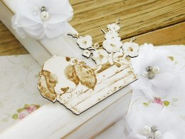 Chipboard - Little Spring - The dog in a wooden with flowers