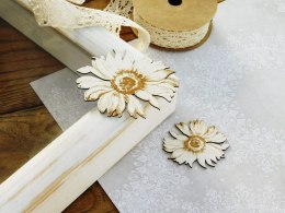 Chipboard - Sunflowers - Sunflower flower - 2 pieces