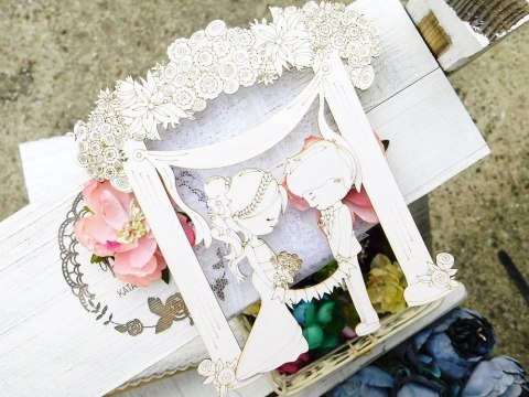 Chipboard - Wedding Day - Flower gate with a pair