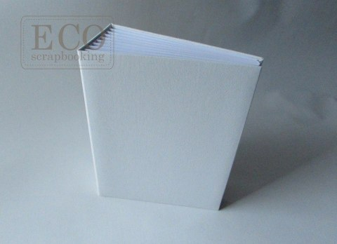 16x21 cm Hidden hinge white album VERTICAL