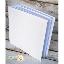 Unique hidden hinge album, 20x20 white, 6 cards