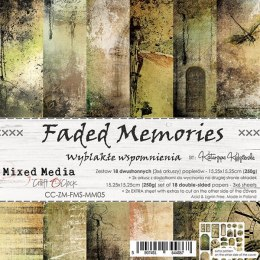 SCRAPBOOKING PAPER PAD - 15X15 CM - FADED MEMORIES