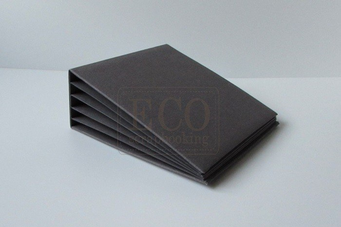 16x16cm, Hidden hinge album, gray, 6 cards