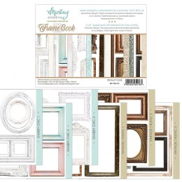 Frame book paper pad with elements for fussy cutting