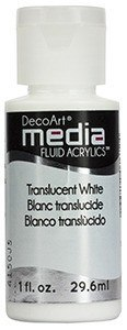 Fluid Acrylics DecoArt Media - Translucent White