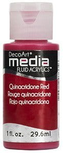 Fluid Acrylics DecoArt Media - Quinacridone Red