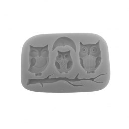 Silicone mould - 3 owls - Pentart