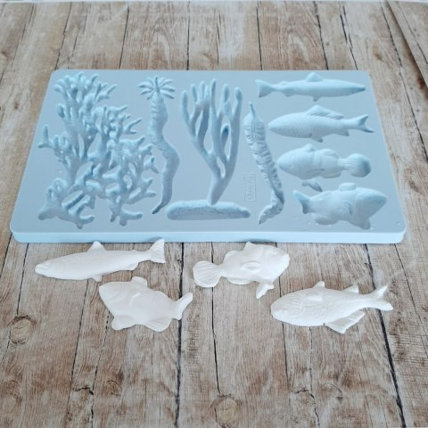 Silicone moulds with coral reef motives