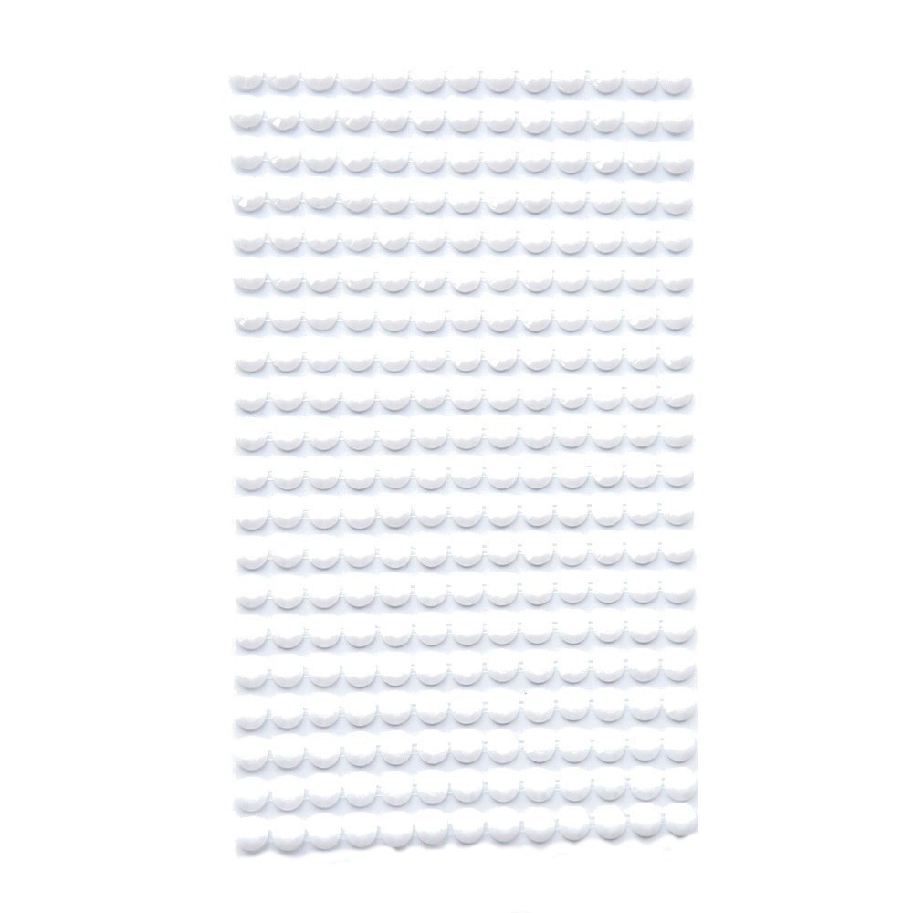 White adhesive stones - 6 mm - 260 pcs