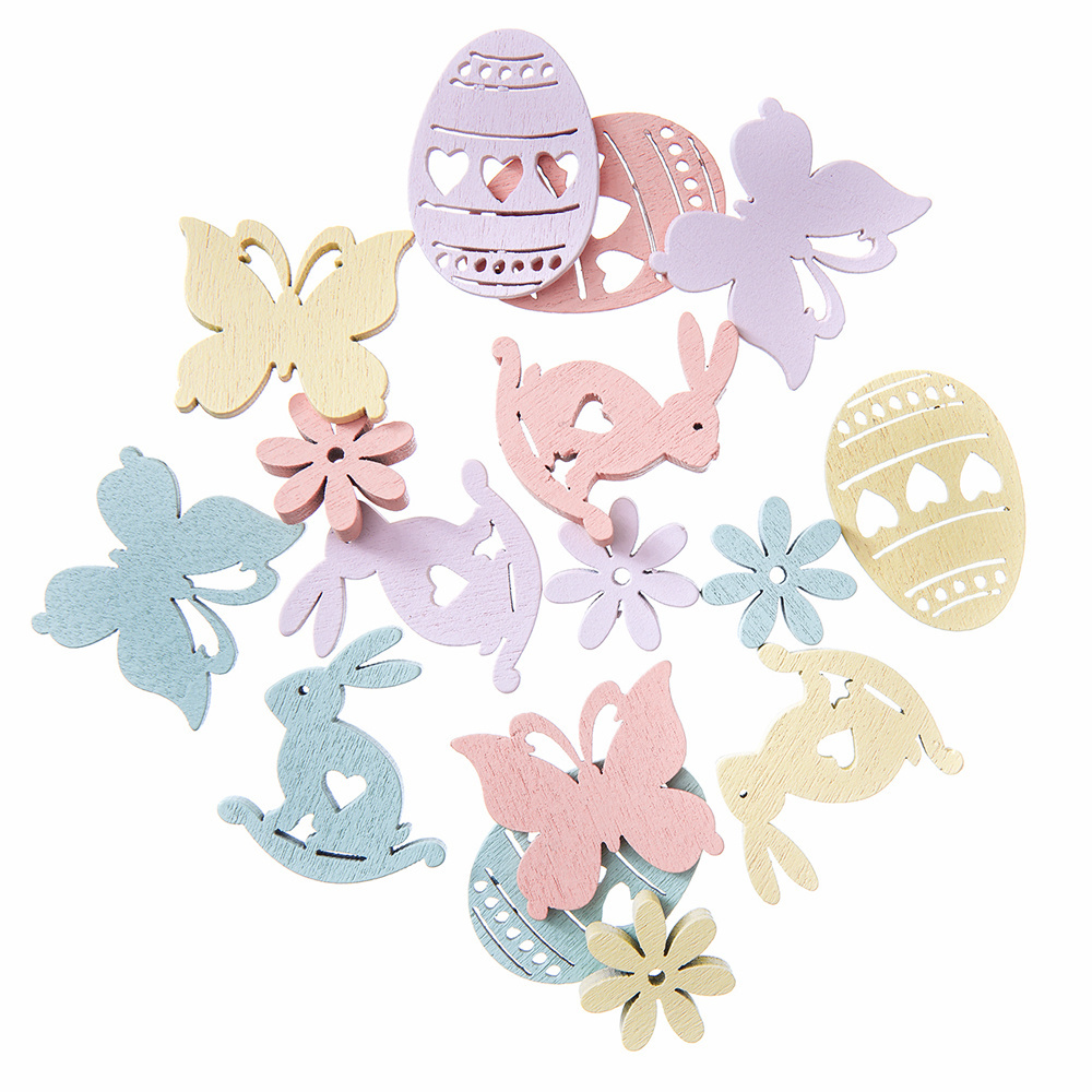Easter Wooden chipboards - 20 pcs - Dp Craft