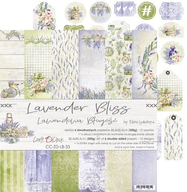 LAVENDER BLISS - a set of papers 30,5x30,5cm