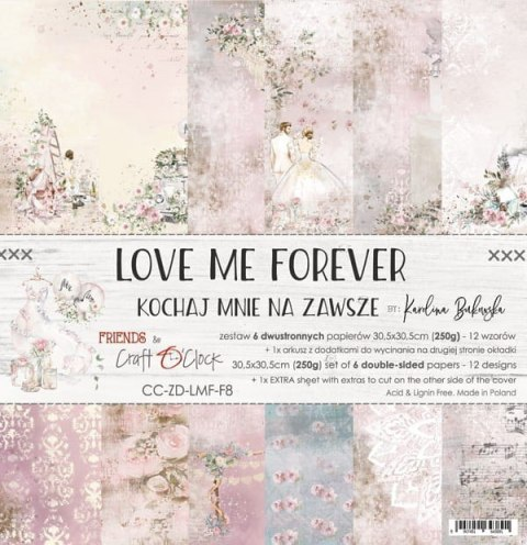 Love Me Forever 12x12 paper set