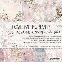 Love Me Forever 8x8 paper set