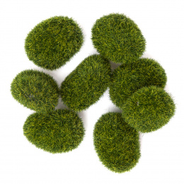 Decorative Moss stones - 8 pcs - Dp Craft