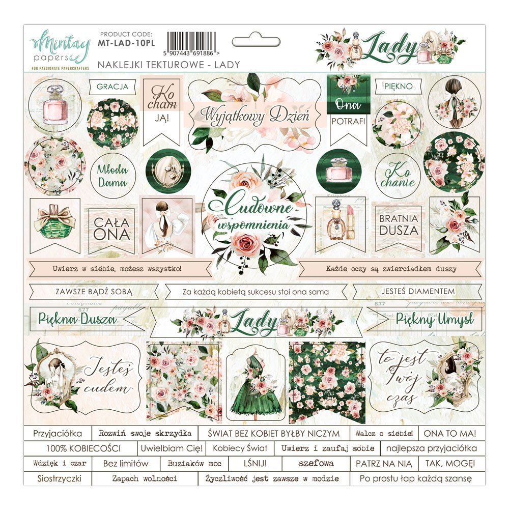 Lady - die cuts stickers-Mintay Papers