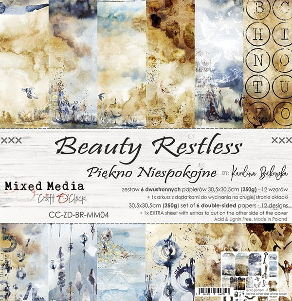 Scrapbooking paper pad, 30x30 cm, Beauty Restless