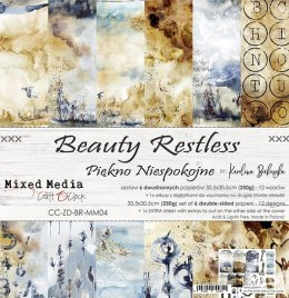 SCRAPBOOKING PAPER PAD -30X30CM -BEAUTY RESTLESS - CRAFT O`CLOCK