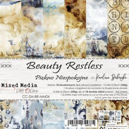 SCRAPBOOKING PAPER PAD - 15X15 CM -BEAUTY RESTLESS