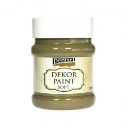 Pentart - dekor paint soft, olive, 230 ml
