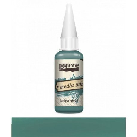 PENTART MEDIA INK 20 ml JUNIPER-GREEN