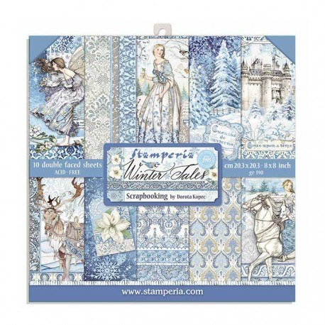 Scrapbooking paper pad Winter tales collection