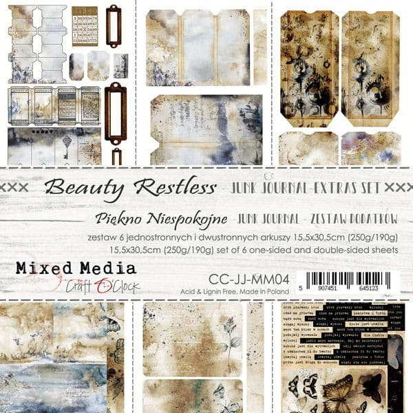 Scrapbooking papers - elements for cutting-Junk Journal -Beauty Restless