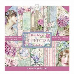 Scrapbooking paper pad - Hortenia collection - Stamperia - 10 sheets