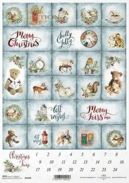 Rice paper - advent calendar