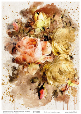 Rice Paper - vintage flowers 04- Studio75