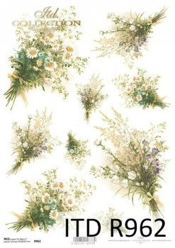 Rice paper flowers -field flowers