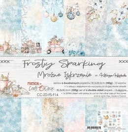 Scrapbooking paper pad - 12x12 - Frosty Sparkling - Craft o`clock