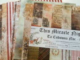 Scrapbooking paper pad - 12x12 - This Miracle Night -- Craft o`clock