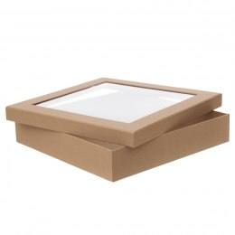Craft box with window - 33,5x33,5x6,5 cm