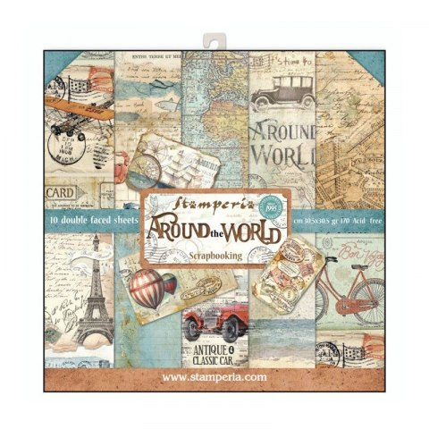 STAMPERIA- 30x30cm AROUND THE WORLD ,10pcs