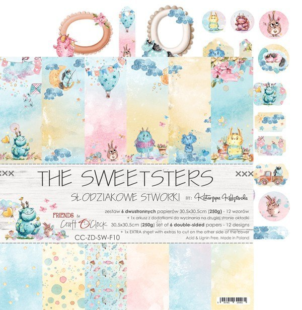 The Sweetsters 12x12 scrapbooking paper set
