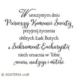 Scrapbooking stamp -sentence in Polish - Agateria