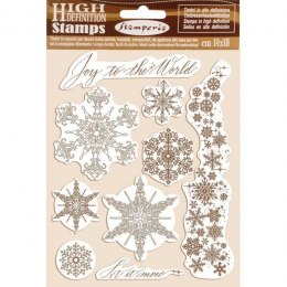 Scrapbooking stamps - Winter tales - snowflakes - Stamperia - 14x18 cm