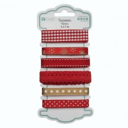 Red Decorative ribbons